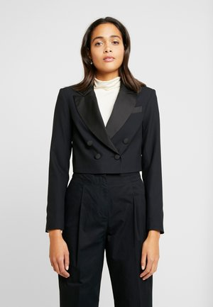 CROP TUX JACKET - Blazer - black