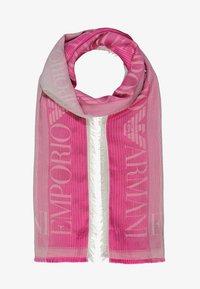 Emporio Armani - STOLE LIGHTWEIGHT FADED LOGO - Šála - pop pink - 1