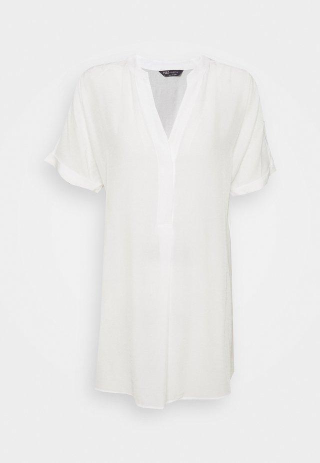 PLAIN TUNIC - Blus - white