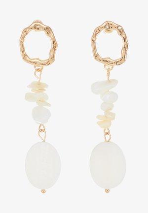 FEHMKE - Earrings - gold-coloured/weiß