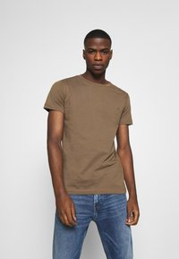 Replay - 2 PACK  - Basic T-shirt - light orange/brown - 1