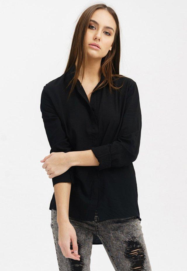 VOKUHILA-STYLE - Button-down blouse - black