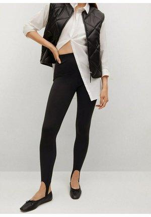 BASIC FUSEAU - Spodnie materiałowe - black