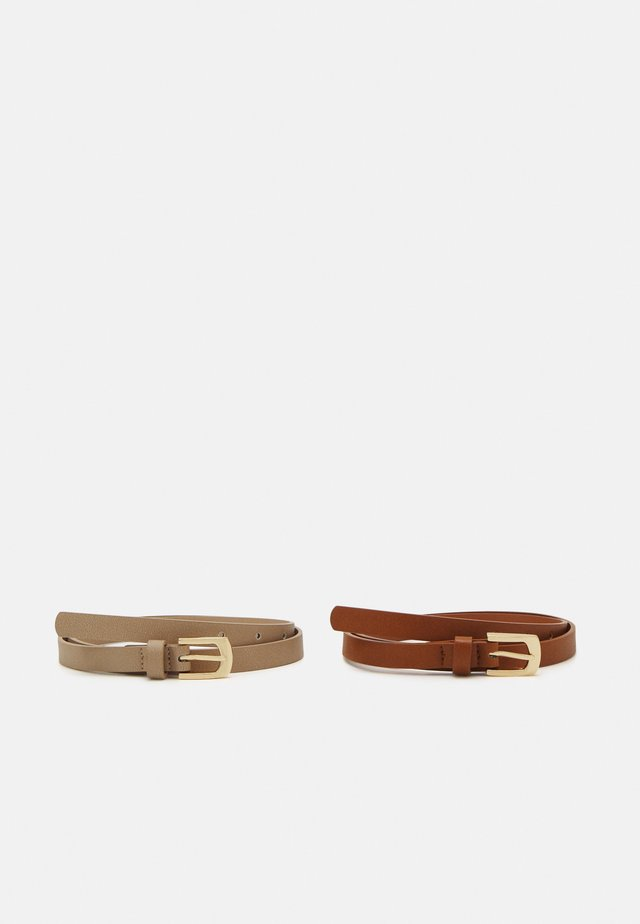 2 Pack - Belt - cognac/taupe