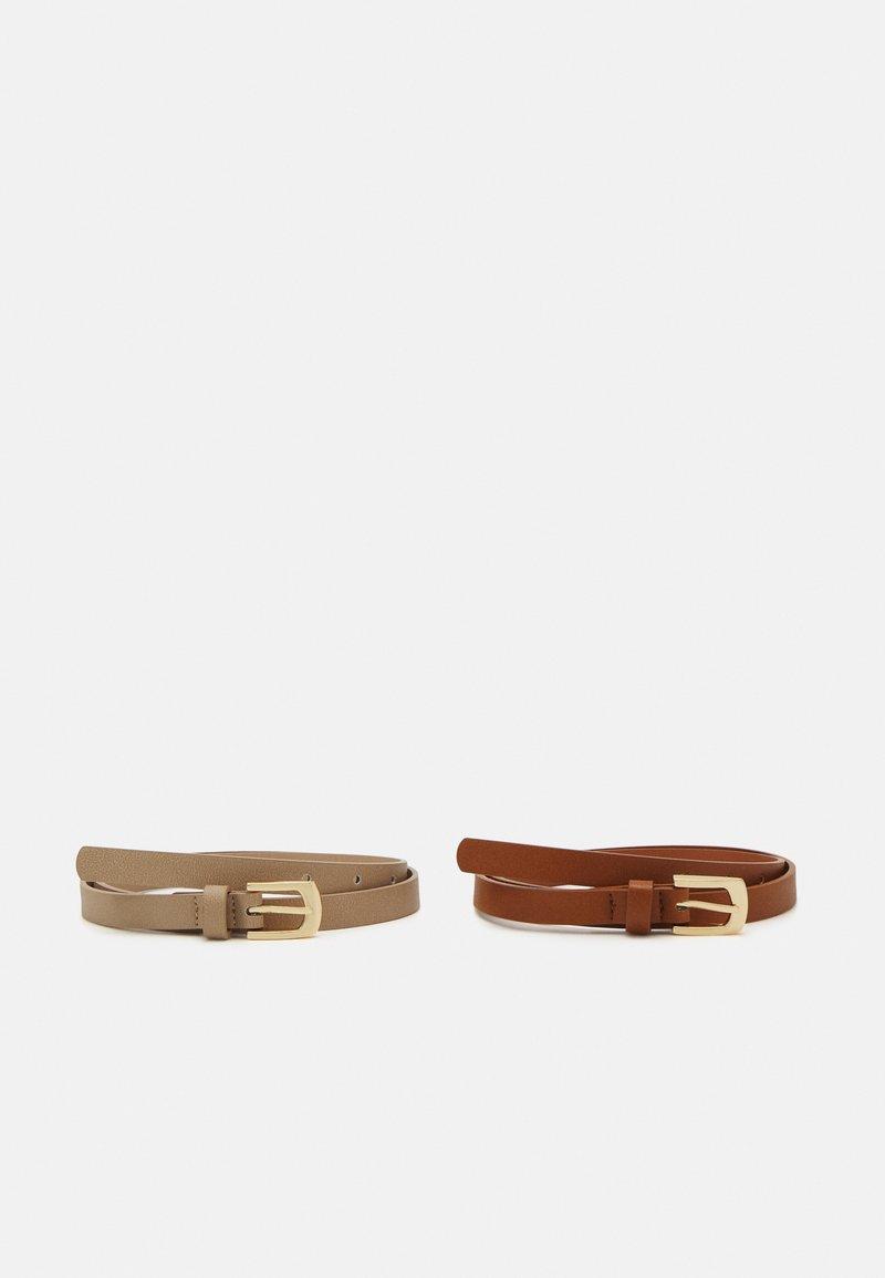 Anna Field - 2 Pack - Belt - cognac/taupe