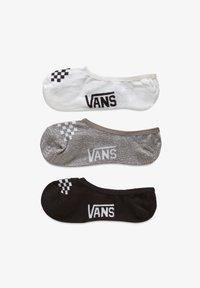 Vans - WM CLASSIC ASSORTED CANOODLE (1-6, 3PK) - Trainer socks - black/white/grey - 0