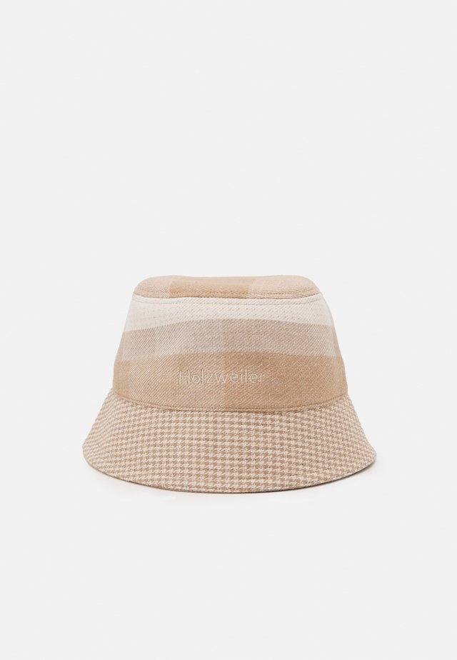 PAFE CHECKED BUCKETHAT UNISEX - Cappello - light yellow