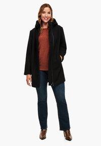 Triangle - MIT REISSVERSCHLUSS-DETAIL - Classic coat - black - 1