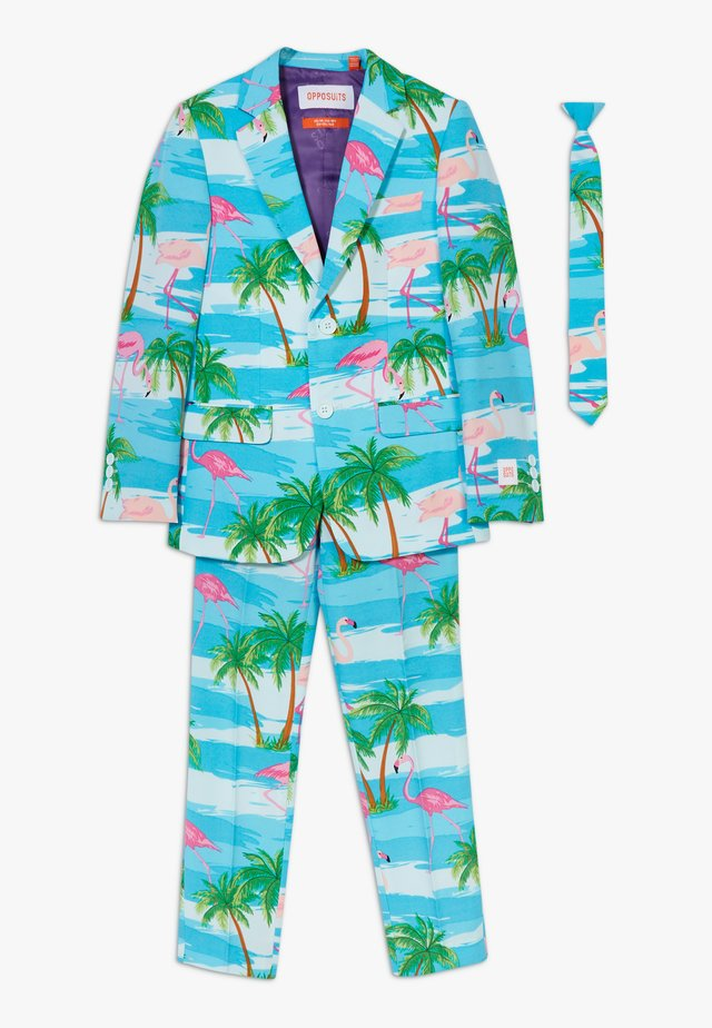 FLAMINGUY SET - Suit - light blue/pink