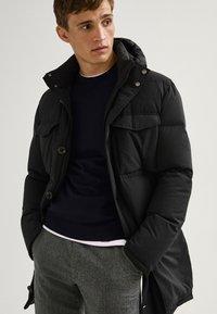 Massimo Dutti - LANGE MIT TASCHEN - Winter coat - dark blue - 0