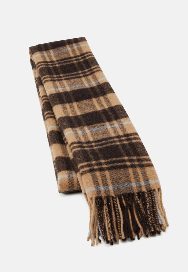 REI SCARF - Écharpe - dark brown/tan