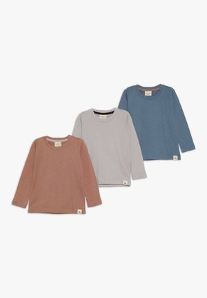 LAYERING TOP 3 PACK - Long sleeved top - grey/brick/denim