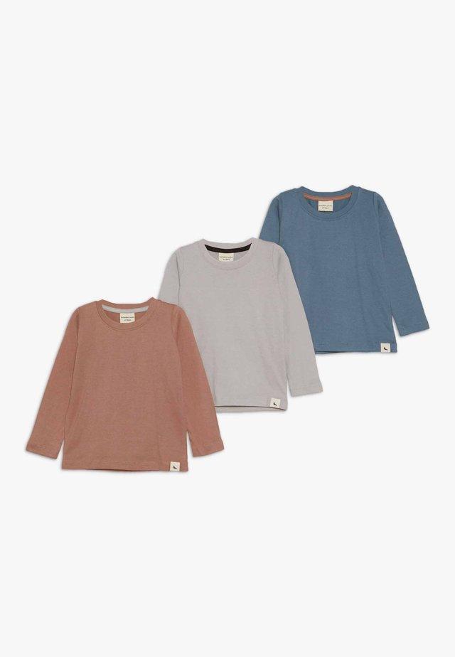 LAYERING TOP 3 PACK - T-shirt à manches longues - grey/brick/denim