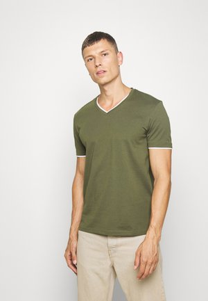 Basic T-shirt - oliv