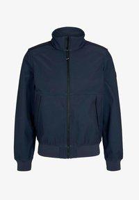 TOM TAILOR - MIT STEHKRAGEN - Outdoor jacket - blue twill structure - 4