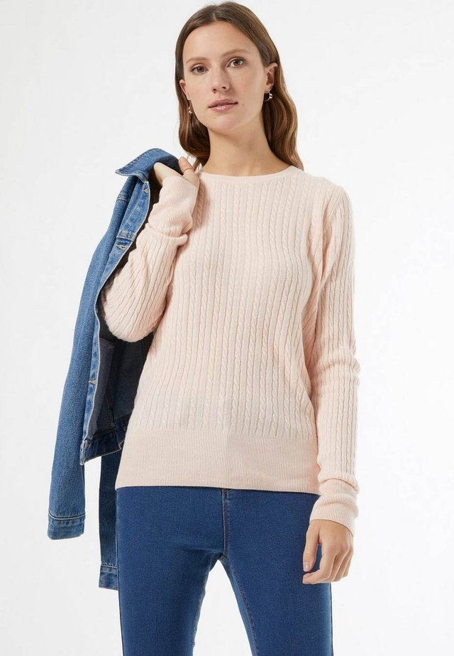 PINK CASH CABLE  - Sweter - pink