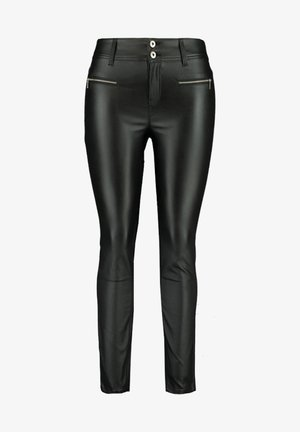 WITH ZIPPERS - Trousers - black
