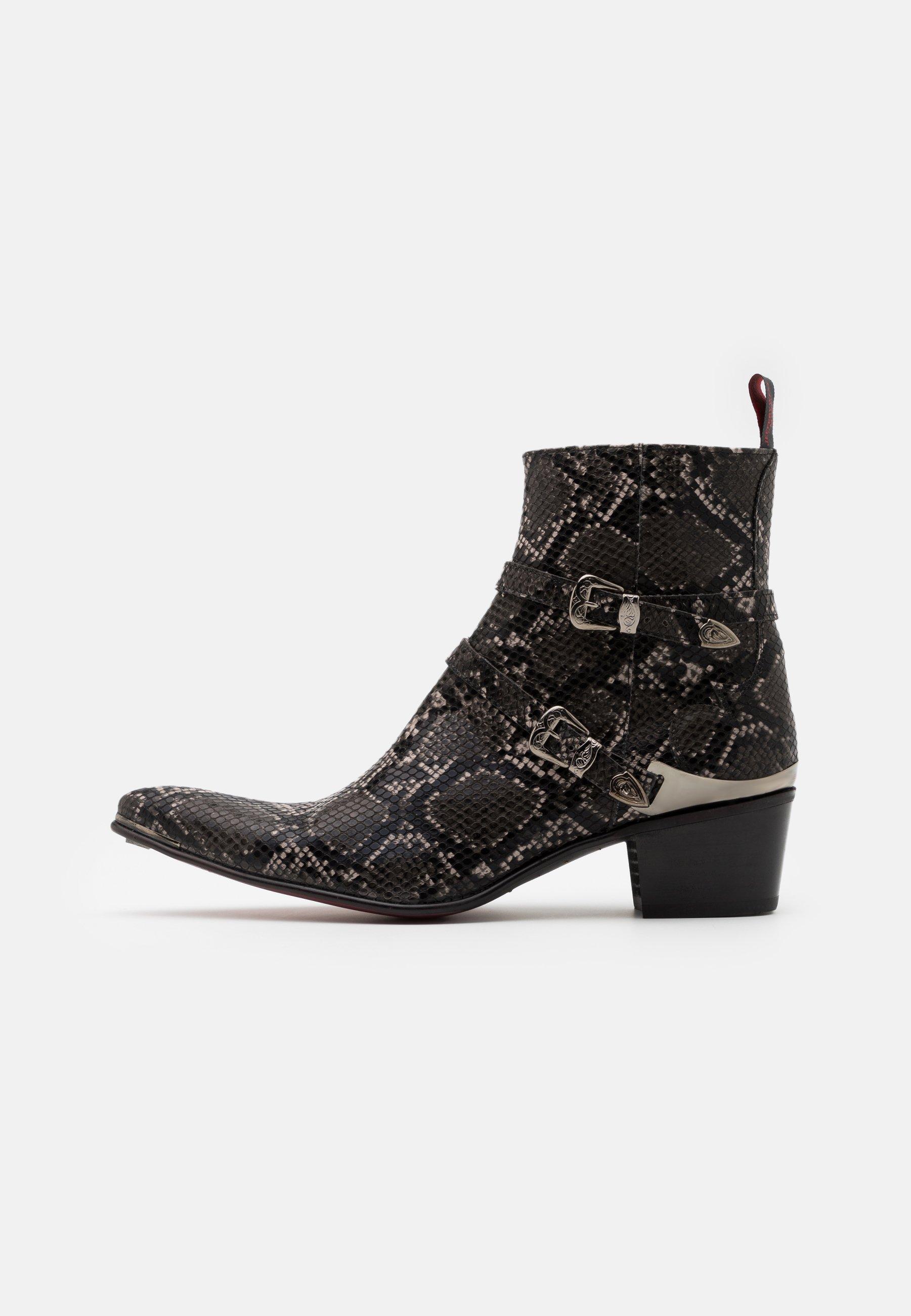 Men VEGAN SYLVIAN ZIP BUCKLE - Cowboy/biker ankle boot