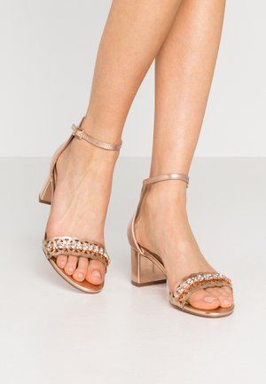 SOLANGE LAZERCUT BLOCK - Sandalen - rose gold