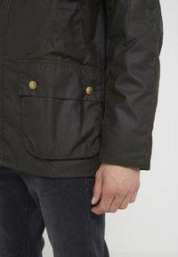 Barbour - ASHBY WAX JACKET - Lehká bunda - olive - 3