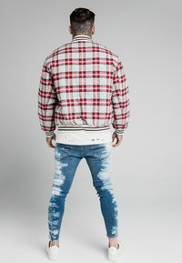 SIKSILK - CHECK - Giubbotto Bomber - grey/red - 2