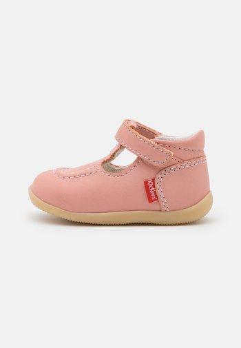 BONBEKRO - Ankle strap ballet pumps - rose clair