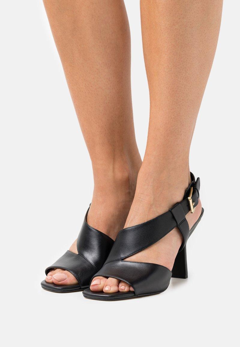 MICHAEL Michael Kors - CLEO OPEN TOE - Sandals - black