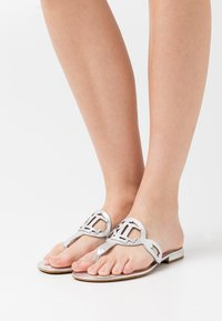 Lauren Ralph Lauren - AUDRIE - T-bar sandals - bright silver - 0