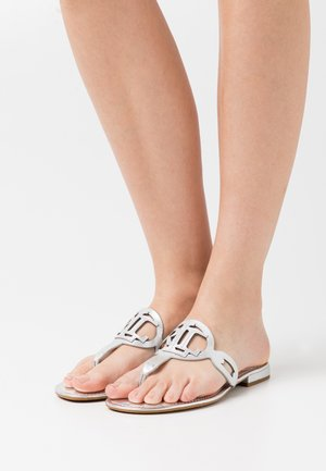 AUDRIE - T-bar sandals - bright silver