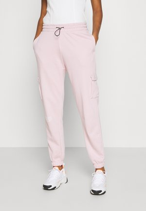 PANT - Tracksuit bottoms - champagne/white