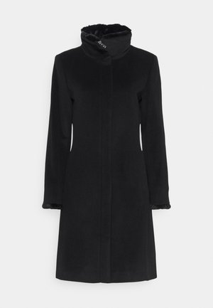 SLIM FIT COAT  - Mantel - black