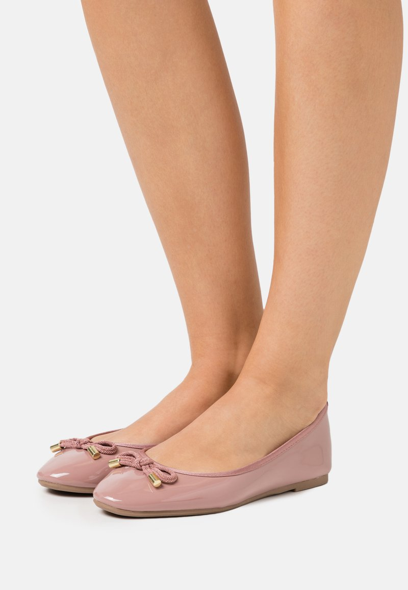 Dorothy Perkins Wide Fit - WIDE FIT BOW - Baleríny - blush