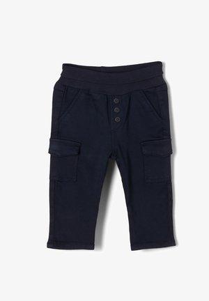 MIT UMSCHLAGBUND - Cargo trousers - dark blue