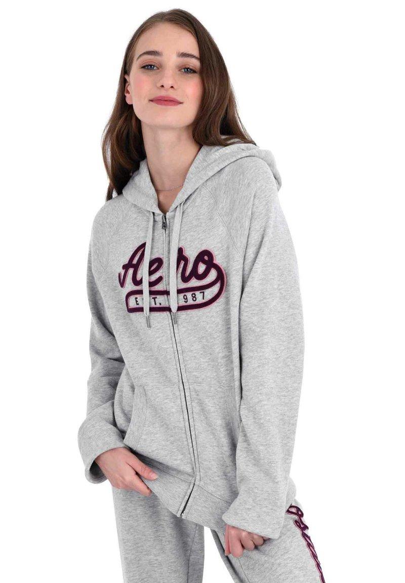 AÉROPOSTALE - Zip-up hoodie - grey