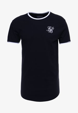 SHORT SLEEVE GYM TEE - T-shirt con stampa - dark navy blue