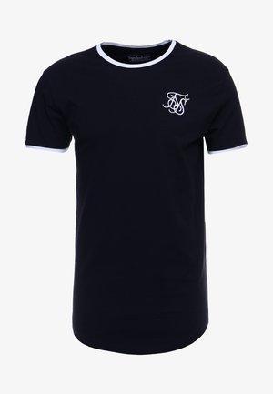 SHORT SLEEVE GYM TEE - Print T-shirt - dark navy blue