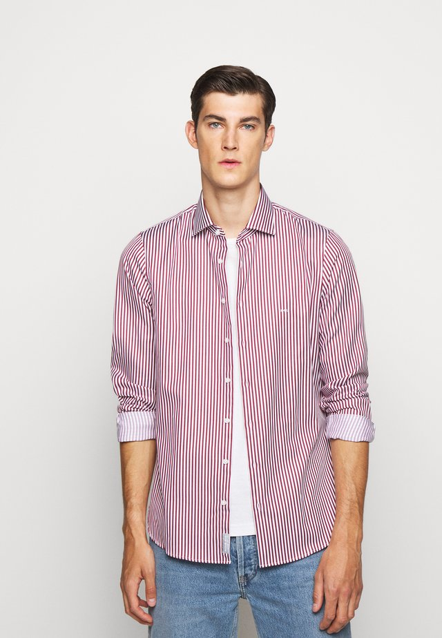 BOLD STRIPE EASY CARE SLIM - Camicia - rumba red