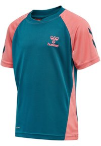 Hummel - ACTION  - Sports shirt - blue coral/tea rose - 1