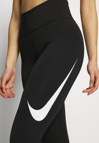 Nike Performance - SWOOSH-RUNNING TIGHT  - Tights - black/reflective silver - 4