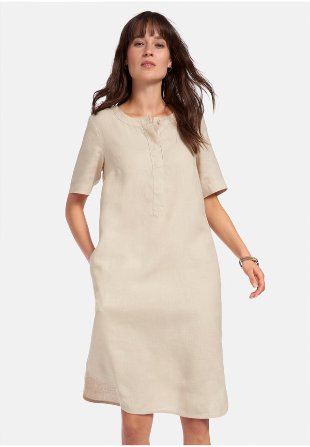 KLEID LEINEN - Korte jurk - hellbeige