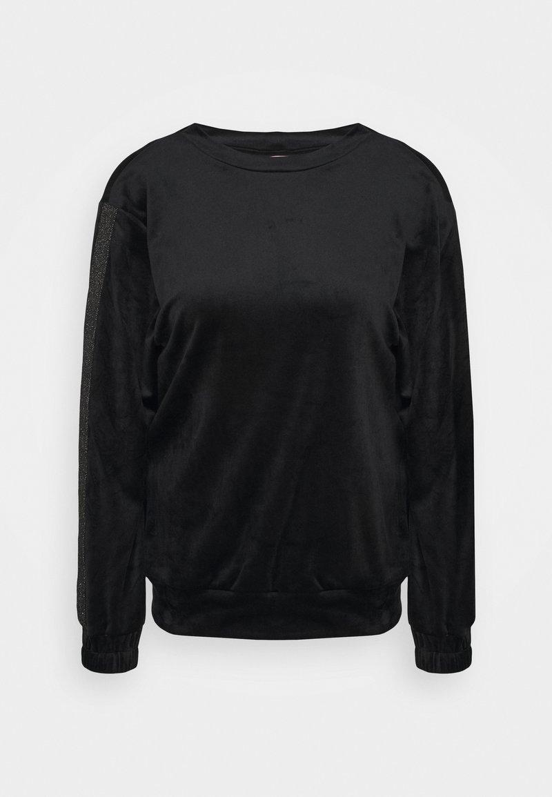 Hunkemöller - TOP SHIMMER TAPE - Noční košile - black