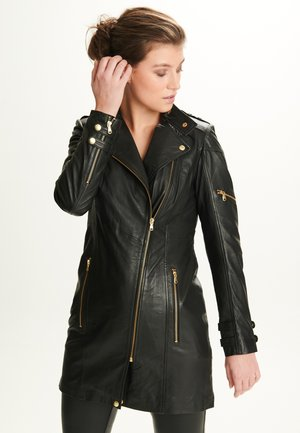 SYLVIA - Leren jas - black