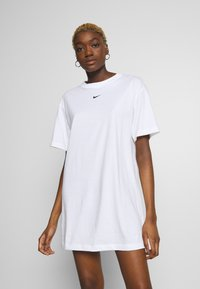 Nike Sportswear - DRESS - Jersey dress - white/black - 0