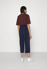 Cotton On - POPPY PLEATED CULOTTE - Trousers - navy blue - 2