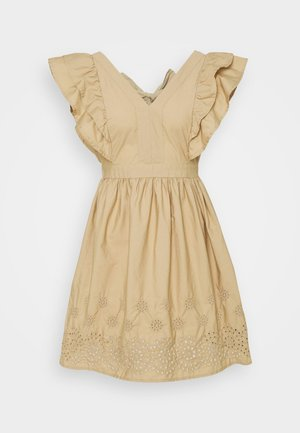 VMLISA SHORT DRESS - Day dress - beige