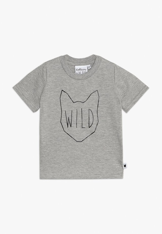 BABY WILD TEE - Print T-shirt - grey marl