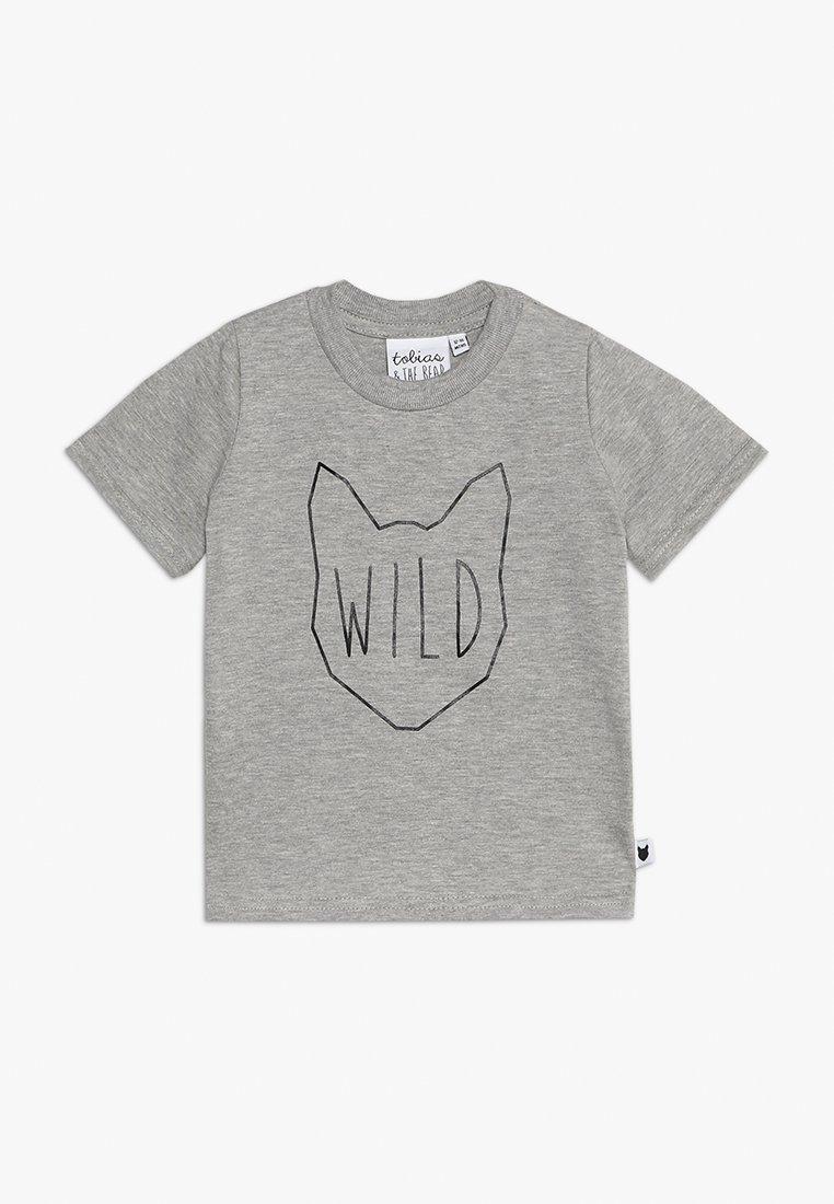 Tobias & The Bear - BABY WILD TEE - Print T-shirt - grey marl