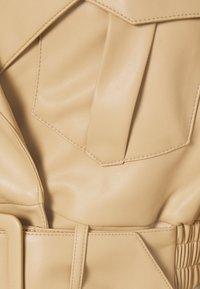 NA-KD - BELTED CROPPED JACKET - Faux leather jacket - beige - 2