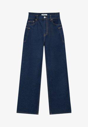 Flared Jeans - dark-blue denim