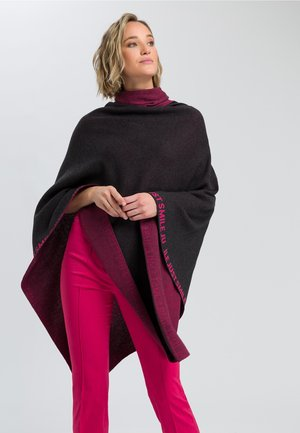 STRICKPONCHO - Cape - iron melange varied